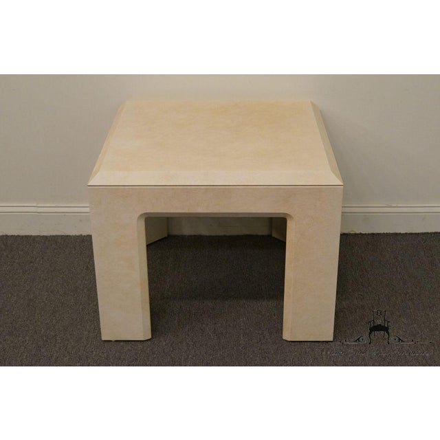 """LANE FURNITURE Contemporary Style 28"""" End Table 22.25"""" High 28"""" Wide 28"""" Deep We specialize in High End Used Furniture..."""