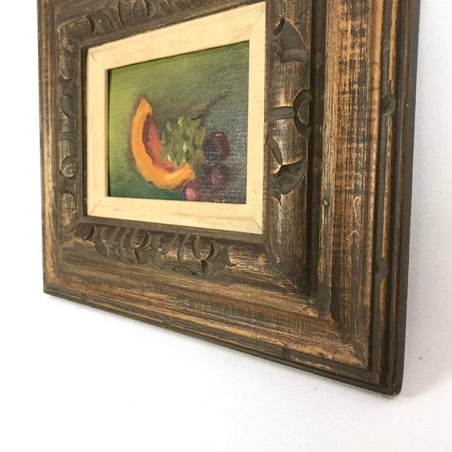 Vintage Mid-Century Framed Still Life with Fruit Painting For Sale In Los Angeles - Image 6 of 10