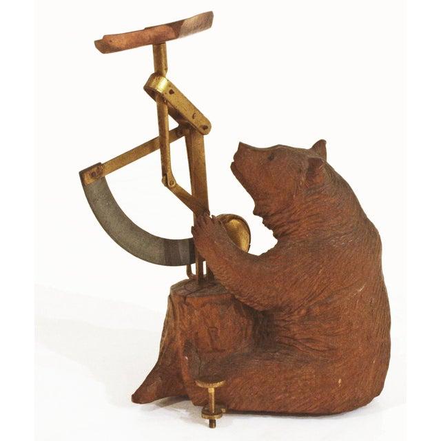 Carved Wooden Black Forest Bear Postal Scale For Sale - Image 4 of 4