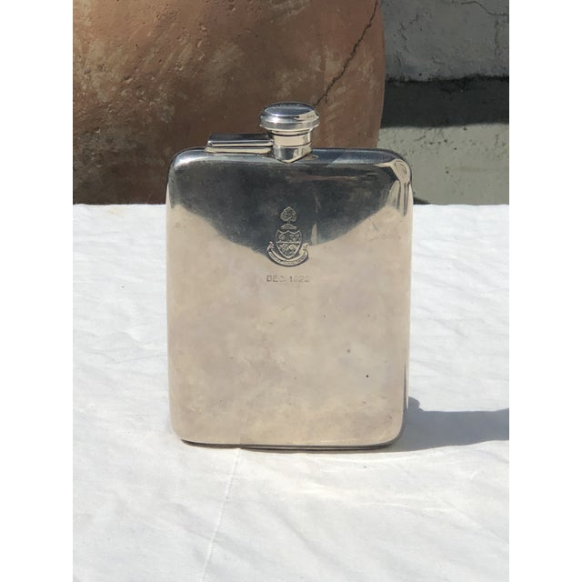 Sterling Silver Flask Dated December 1922 For Sale - Image 13 of 13