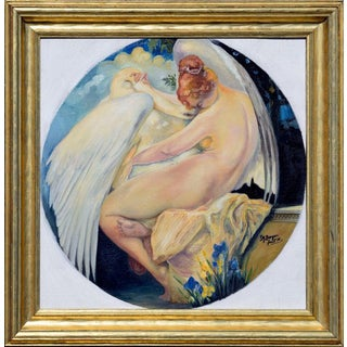 F. M. Berger Leda and the Swan 1930 For Sale