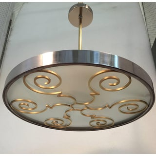 Chandelier by Lars Holmstrӧm for Arvika, 1930s Preview