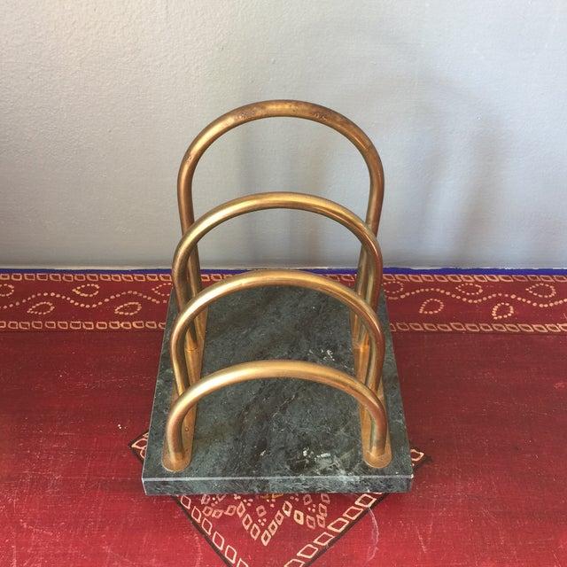 Brass & Marble Desk Organizer - Image 2 of 6