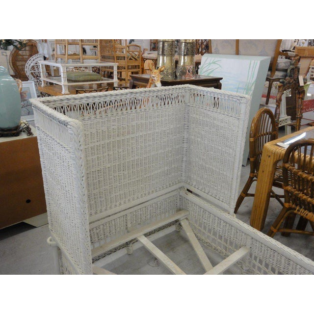 Vintage Hooded Wicker Twin Bed For Sale In West Palm - Image 6 of 7