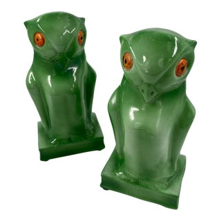 Mid-Century Art Deco Owl Bookends For Sale