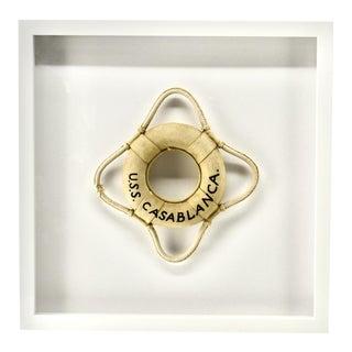 Vintage u.s.s. Casa Blanca Life Ring Framed For Sale