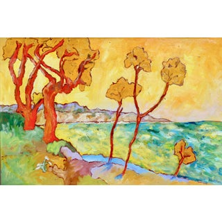 Contemporary Painting, Santa Barbara Summer For Sale