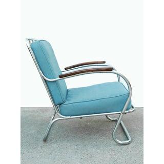 1940s Vintage Kem Weber Lloyd Chrome Lounge Chair Preview