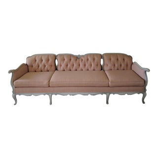 1960s Vintage French Provincial Peach Sofa For Sale