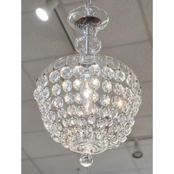 Art Deco Antique Crystal Baccarat Chandelier For Sale - Image 3 of 10