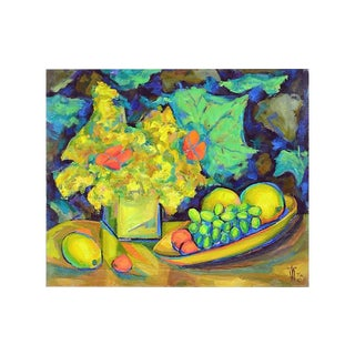Floral & Fruit by Virginia Rogers, 1965 For Sale