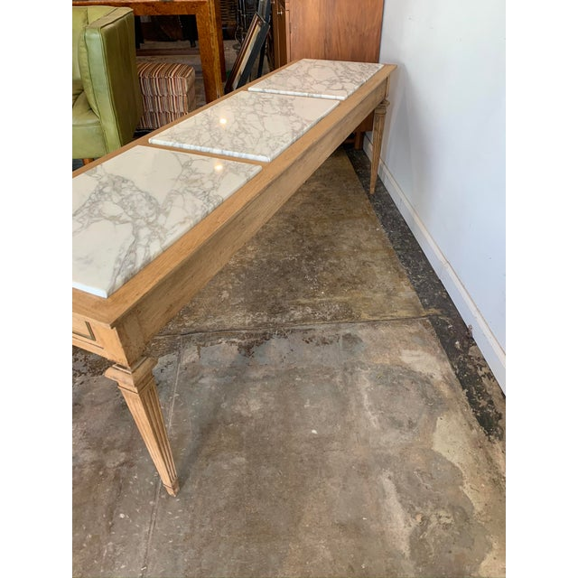 Traditional Sofa Console with Marble Top For Sale - Image 4 of 10