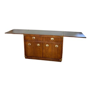 Vintage Thomasville Credenza Dry Bar with Expandable Top For Sale