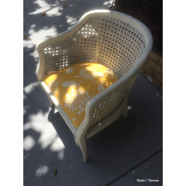 Vintage Cane Tub Chair - Image 4 of 5