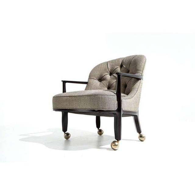 1950s Edward Wormley for Dunbar Janus Armchairs, Set of Four, 1950s For Sale - Image 5 of 7