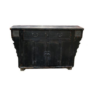 1910s Asian Antique Black Elm Shanxi Sideboard Cabinet Preview
