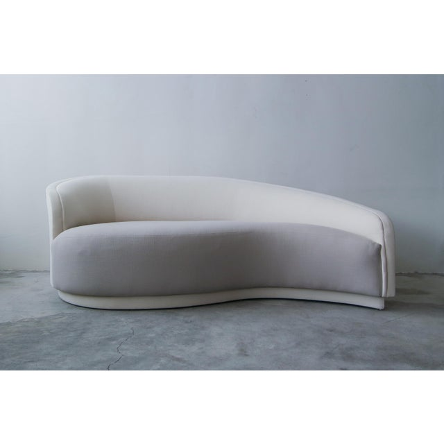 1980s Petite Curved Sofa & Ottoman by Vladimir Kagan for Weiman For Sale - Image 5 of 10