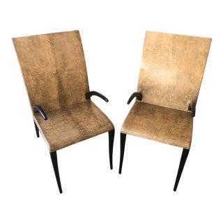 R & Y Augousti Paris Shagreen Chairs - a Pair For Sale
