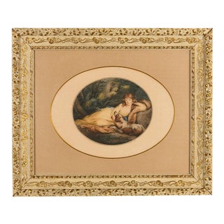 Engraving of a Richard Cosway Painting, England 19th Century For Sale