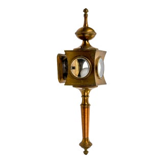Vintage Brass and Copper Carriage Style Outdoor Wall Sconce For Sale