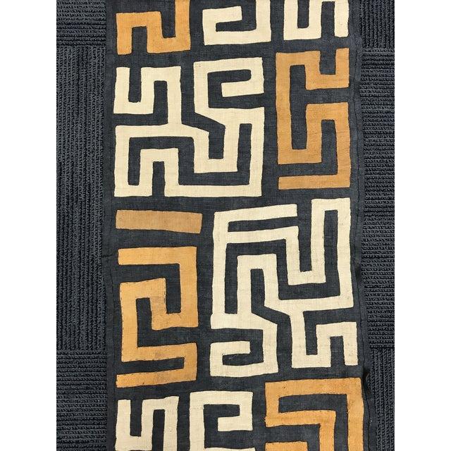 African Art Handwoven Kuba Cloth For Sale - Image 4 of 10