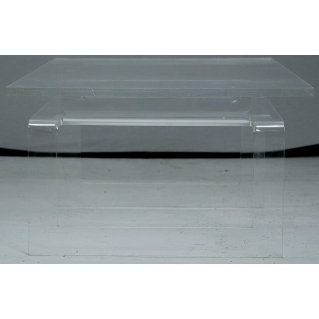 Vintage Lucite 2-Tier Coffee Table - Image 4 of 5