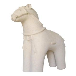 Mid-Century Bitossi-Style Terra Cotta Horse Sculpture