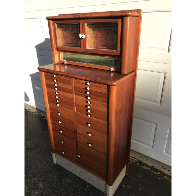 Art Deco Early 20th Century Antique Art Deco Teak and Marble Dentist's Chest For Sale - Image 3 of 12