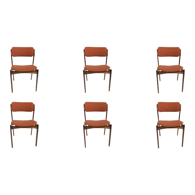 Mid-Century Modern Erik BuchRosewood Dining Chairs by Oddense Maskinsnedkeri - Set of 6 For Sale