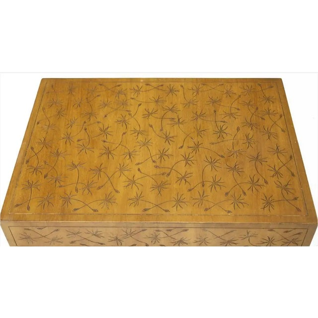 Kittinger Kittinger Thistle Incised Faux Bamboo Side Table For Sale - Image 4 of 6