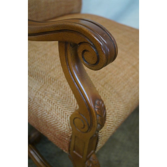 Quality Renaissance Style Carved Frame Arm Chair - Image 7 of 10