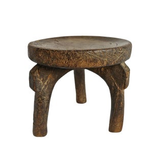 Old Tanzanian Wood Stool For Sale