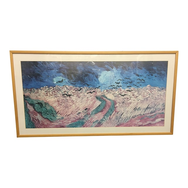 Oblong Abstract Framed Picture For Sale