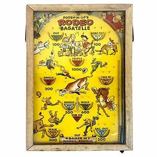1930s Pinball Rodeo Game Wall Decor For Sale