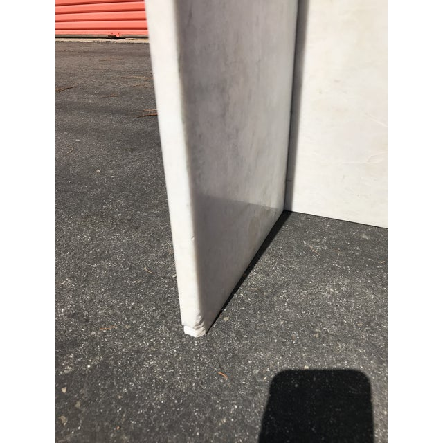 1970's Vintage Solid Marble Side Table For Sale - Image 4 of 12