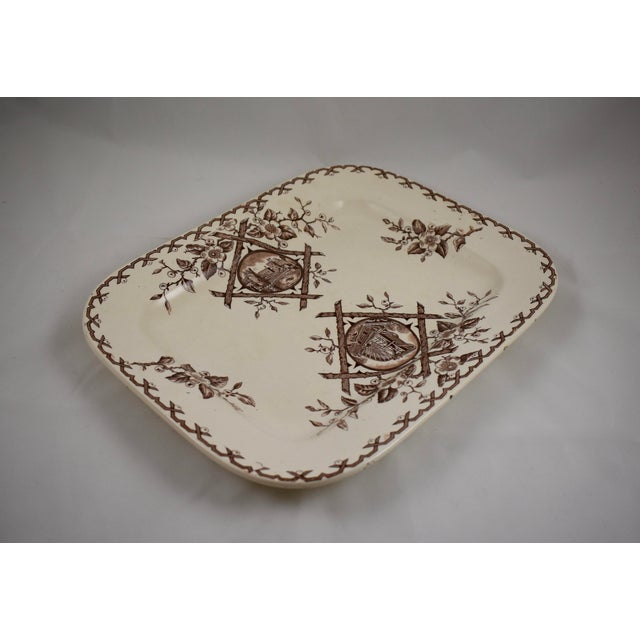 Brown English Aesthetic Movement Japonesque Platter For Sale - Image 8 of 10