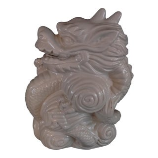 Blanc De Chine Dragon Vase For Sale