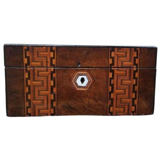 Geometric Inlaid Letter Box For Sale