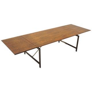 Hans Wegner Rosewood Drop Leaf Dining Table, Signed For Sale