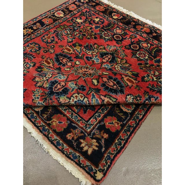 """1920s 1920s Vintage Persian Hamadan Square Rug, 3'3"""" X 3'5"""" For Sale - Image 5 of 6"""