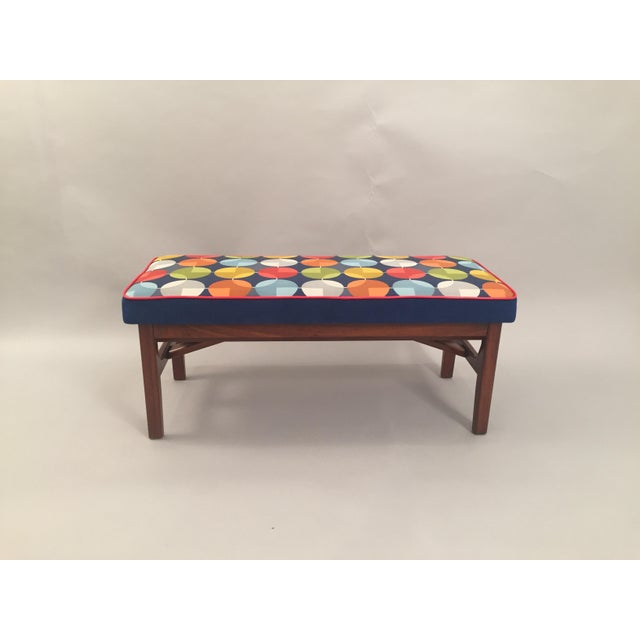Mid-Century Teak Wood Bench - Image 2 of 8