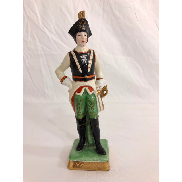 Capodimonte Porcelain Statue of a French Imperial Soldier For Sale - Image 6 of 6