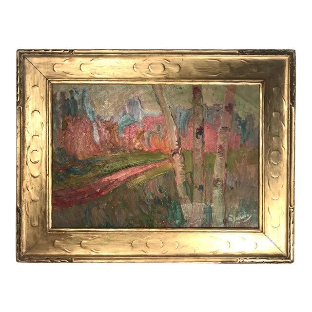 French Fauve Landscape Oil Painting Signed, A. Derain For Sale