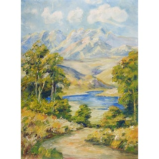 Impressionist Mountain Landscape Painting For Sale