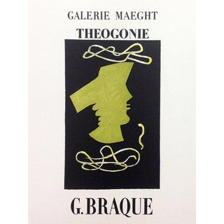 Georges Braque 5, Lithograph Theogonie, Art in Posters Mourlot 1959 For Sale