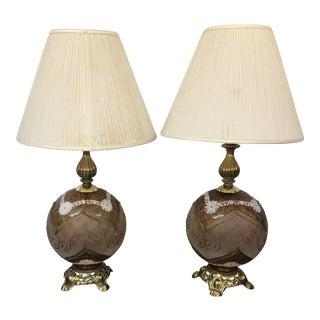 Unique Vintage Bulb Base Lamps - A Pair For Sale