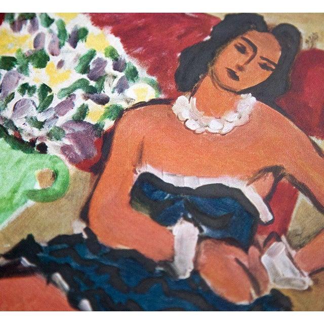 Henri Matisse Limited Edition Lithograph. Size : 33.7 x 25,4 cm. Titled: La Danseuse A La Robe Bleue 1942. Sur les presses...