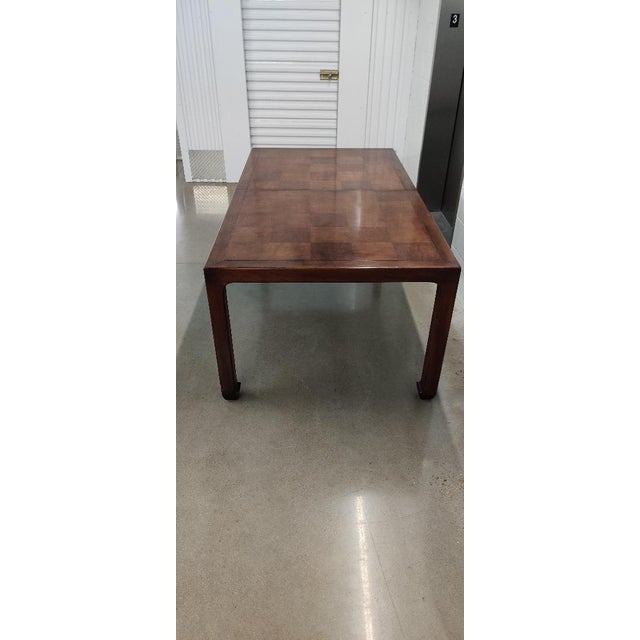 Brown Henredon Asian MidcenturyStyle Dining Table For Sale - Image 8 of 12