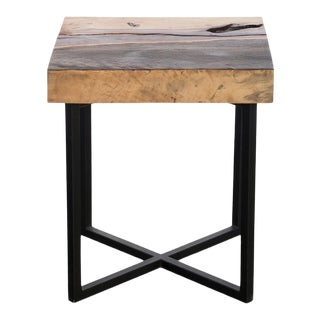 Phillips Collection Tam Side Table, Black Stone/Natural For Sale