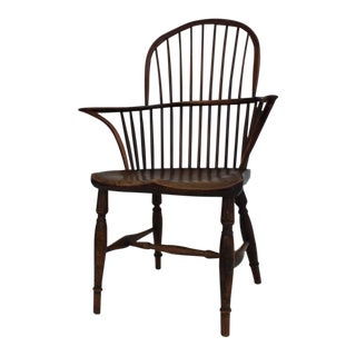 20th Century American Classical Oak Windsor Chair For Sale